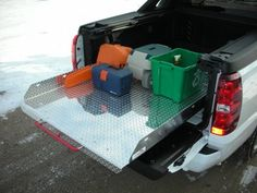 pull out truck bed storage access