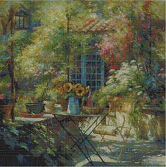 Professione Donna: Schema per il punto croce: Paesaggio_56
