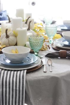 Fall tablescape with