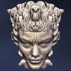 medusa head sculpture max