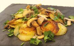 Les pommes de terre sautées aux champignons - La Recette