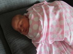 Photo Prop Swaddle Pink & White Big Dot Blanket by annabannacrafts, $22.00
