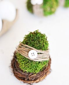 DIY Moss Covered Easter Eggs | Shelterness