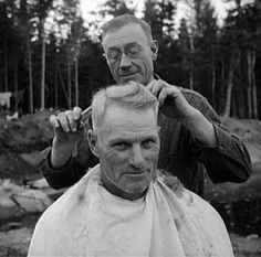 to locate this image on the American Memory website use search terms CAMP BARBER Barber Shop Pictures, Rockabilly, Barber Shop Haircuts, Beard Maintenance, Attitude Thoughts, Man Images, Hair Studio, Great Hair, Vintage Hairstyles