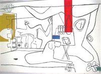 Trois verres d'apéritif by Le Corbusier 1960
