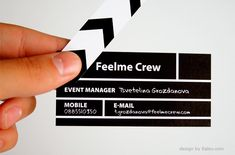creative business card- event menager