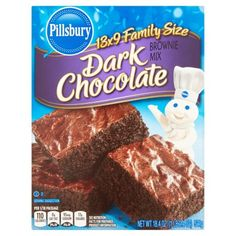 Pillsbury Dark Chocolate Brownie Mix Family Size 18.4 oz
