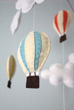 feltro artesanato baloes mobile bebe