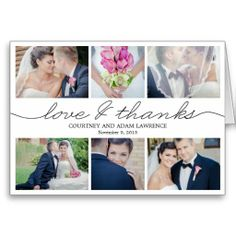 Shop Lovely Writing Wedding Thank You Card - Black created by berryberrysweet. Personalize it with photos & text or purchase as is! Thank You Photos, Photo Thank You Cards, Custom Thank You Cards, Photo Cards, Wedding Thank You Postcards, Wedding Postcard, Wedding Cards, Wedding Stuff, Wedding Hair
