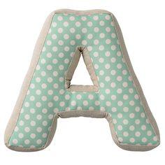 """A"" with Pattern Cotton Throw Pillow | Wayfair"
