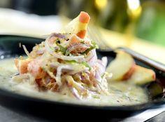 Ceviche de salmão com caju