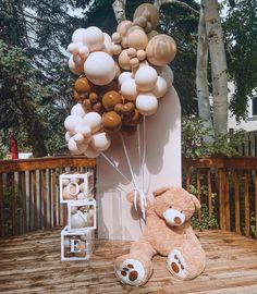 Fiesta Baby Shower, Baby Shower Niño, Teddy Bear Baby Shower, Baby Shower Winter, Baby Shower Balloons, Baby Shower Themes, Balloon Flowers, Balloon Garland, Balloon Decorations