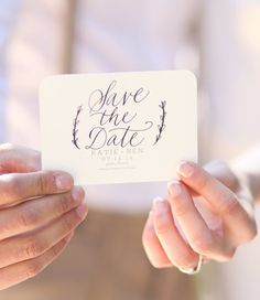 custom calligraphy wedding save the dates