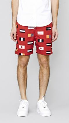 Red Team Frankie Short I Love Ugly, Red Team, Classic Man, Men Looks, Patterned Shorts, Menswear, Football, Mens Fashion, Swimwear