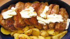 VYNIKAJÚCE bravčové mäso z rúry – tento recept robíme doma už roky a nevieme si ho vynachváliť! - Domáce recepty Sausage, Pork, Food And Drink, Meat, Chicken, Kale Stir Fry, Sausages, Pork Chops, Cubs