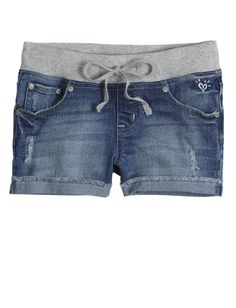 Destructed Knit Waist Denim Shorts | Bottoms | New Arrivals | Shop Justice