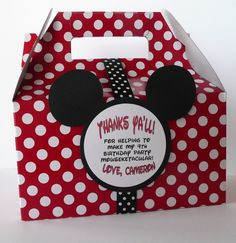 Mickey Mouse Party Favor Box  Set of 10 by PocketFullofGlitter, $19.00