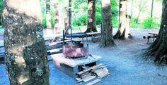 Die Grillstelle am Rosentaler Weiher ist besonders für Familien geeignet.50km Families