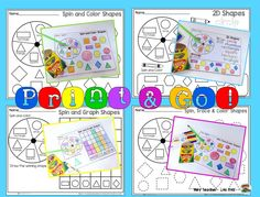 Children LOVE learning about shapes. This 2 D Shapes pack is loaded with hands on activities that will engage your children!