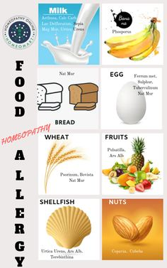 Some people are prone to illness to certain foods, homeopathy has remedies for various food #allergy