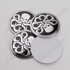 4Pcs 56.5mm Hydra Silver Skull Car Wheel Center Hub Cap Emblem Stickers Aluminum|Pirate. eBay