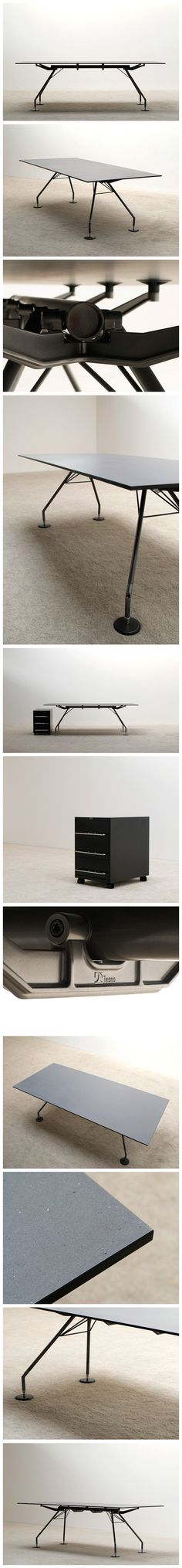 Norman Foster Nomos industrial table for Tecno Large