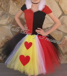 Adult Queen of Hearts Tutu Costume by TulleBoxofTreasures on Etsy