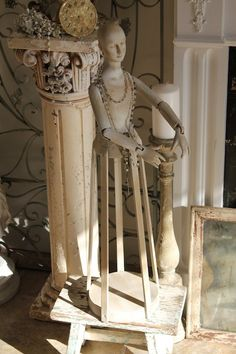 Madame Blanche..French Style Santos Statue....Cage Doll...Treasury Item. $165.00, via Etsy.