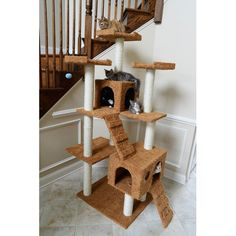 """Found it at Wayfair - 74"""" Classic Cat Tree in Brown"""