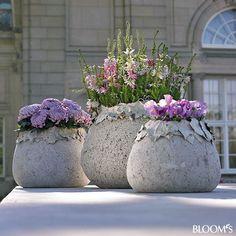 Gorgeous concrete planters.