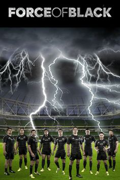"""All Blacks rugby - """"Force of Black"""" poster created by Gordon Tunstall using Adobe PhotoShop - 2015"""