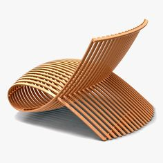 Cappellini Wooden Chair 2 marc newson 1992 Amazing how the timber has been crafted in this curved design. A real contrast to the usual timber furniture pieces you see.