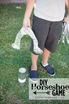 Kid Inspiration - All for the Boys - Cowboy Week Part 2: DIY HorseshoeGame