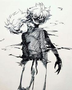 Hunter X Hunter, Anime Hunter, Killua, Hisoka, Dark Drawings, Amazing Drawings, Kakashi Drawing, Manga Art, Anime Art