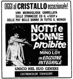 """""""Notti e donne proibite"""" (1963) di Mino Loy, con Lilo e Kathy O'Brien. Italian release: April 18, 1966 #MoviePosters"""