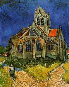 La iglesia de Auvers Van Gogh 1889