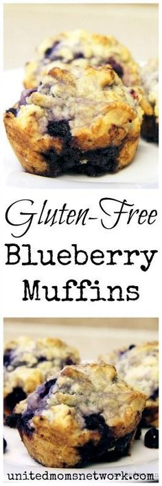 Absolutely delicious gluten free blueberry muffins recipe. Muffins, muffin recipes #muffins #breakfast #recipe