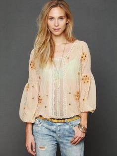 Free People Centered Crochet Blouse http://www.freepeople.com/whats-new/centered-crochet-blouse/