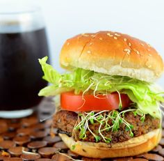 Vegan Tempeh and black bean burger #vegetarian #vegan #recipe #healthy #picnic #BBQ #barbeque #memorialDay #tempeh #blackBeans