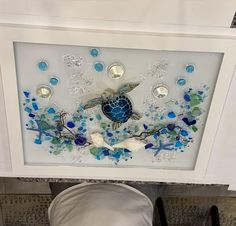 Sea Glass Decor, Sea Glass Crafts, Sea Glass Beach, Sea Glass Art, Seashell Art, Seashell Crafts, Diy Resin Art, Resin Crafts, Broken Glass Art