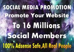promote website to 16 million social fans followers for visito... by ireshaonly