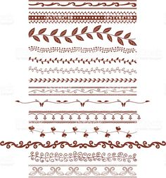 Mehndi Vines (Vector royalty-free stock vector art