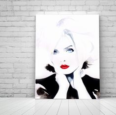 Atomic Fine Art Print Portrait Punk Rock Boho 1980s Blondie Beauty Retro Salon Decor Ideas. Just a little reminder: Airmail from England to the USA usually only takes one to three weeks to arrive - not the four to six weeks Amazon states as the shipping time. Fine art print of my original watercolour painting, 'Atomic'. Direct from my studio in Suffolk, England, signed & dated. Shipped unframed - carefully packaged for safe delivery in a sturdy art tube.