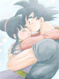 Goku y Chi-Chi