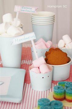 Kids party marshmallow