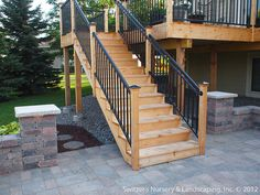 Like the look of this deck!   Deck & Patio ~ MN Backyard Ideas by Switzer's Nursery & Landscaping, via Flickr