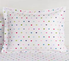 Organic Multicolored Heart Duvet Cover #pbkids