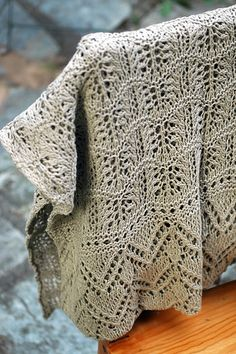 North Sea Shawl pattern by Cheryl Oberle. I'm making one of these in blue Shetland wool. Looks harder than it is.