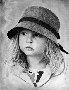 Portrait réalisé au crayon graphite. Descriptif sur : http://www.artabus.com/domine/portraitenfant90