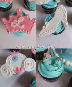 Cinderella Cupcake Toppers, via Flickr.